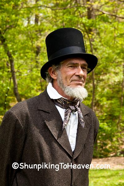 Abraham Lincoln Reenactor, Springfield, Illinois