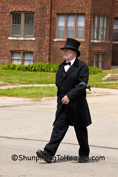 Lincoln Funeral Reenactor, Springfield, Illinois, Springfield, Illinois