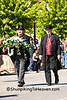 Lincoln Funeral Reenactor Carrying Coffin Flowers, Springfield, Illinois