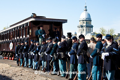 Lincoln Funeral Car and Civil War Reenactors, Springfield, Illinois
