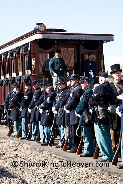 Lincoln Funeral Car and Civil War Reenactors, Springfield, Illinois