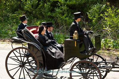 Reenactors Portraying Lincoln's Family, Springfield, Illinois