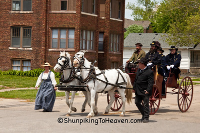 Reenactors in Lincoln Funeral Procession, Springfield, Illinois