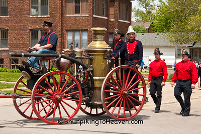 Vintage 1891 Steam Fire Engine Pumper, Springfield, Illinois