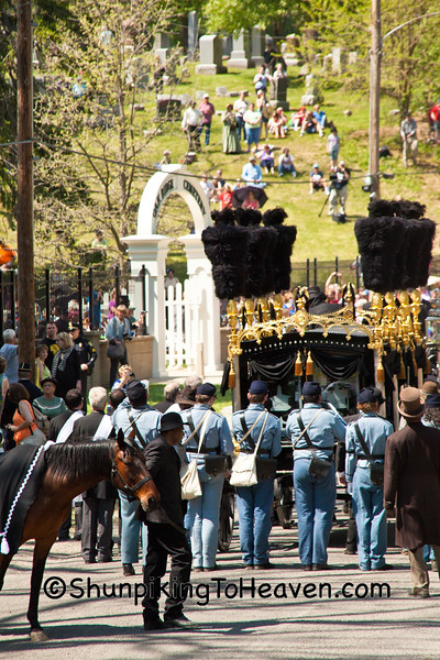 Lincoln's Hearse Entering Oak Ridge Cemetery, Springfield, Illinois