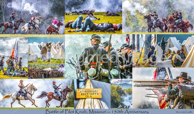 Postcard - Battle of Pilot Knob - 150th Anniversary - 72 ppi - ID