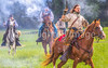 Confederate cavalry chase Union soldiers at Centralia, MO, 150th anniversary reenactment - C1-2 - 72 ppi-2