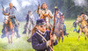 Confederate cavalry chase Union soldiers at Centralia, MO, 150th anniversary reenactment - C1-2 - 72 ppi-4