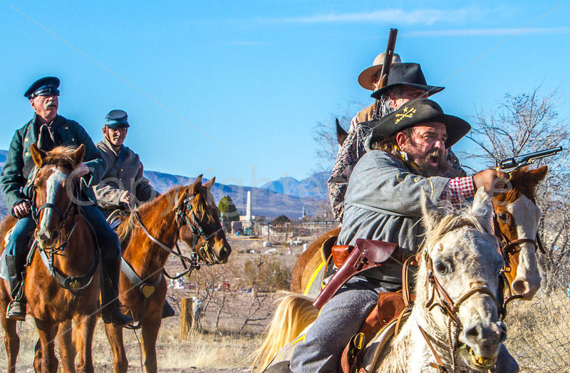 New Mexico - Reenactors of Sibley's Texas Confederates in Socorro - 2-24-12-C1-0100 - 72 ppi