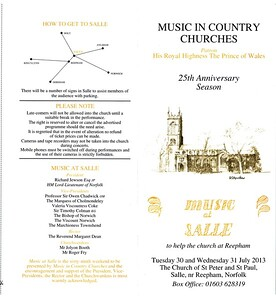 Music in Country Churches at Salle