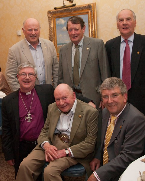 The Bishop and some of Reepham's Paul Harris Fellows