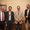 President Gareth, new members Steve and Peter, and Ken