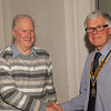 President Robert welcoming Tony Cowles into the Club on 10th February 2014