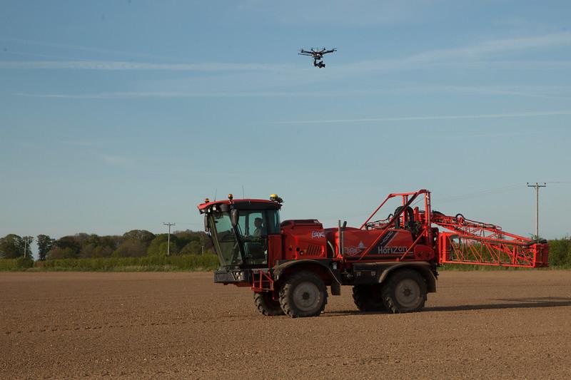 High Tech Sprayer and drone