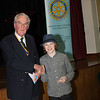 Jack Jarvis receiving his 2nd place cheque from President Andrew