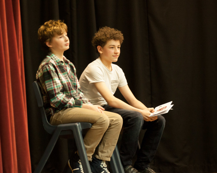 The comperes Angus Weston (left) and Alfie Moss (last year's winner)