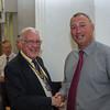 Pres Arthur welcomes our new Hon Member Tim Gibbs