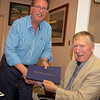 David Baxter recieving a Paul Harris Award from President Steve Griggs