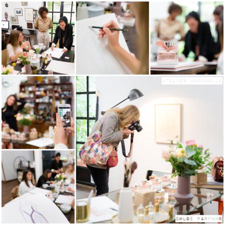 Octobre 2019 - Atelier aquarelle Chloé Parfums