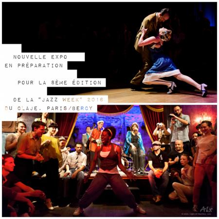 2015-04 Préparation d'une nouvelle exposition photographique sur le thème du Jazz et du Swing