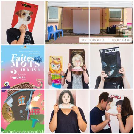 """Juin 2018 - Photobooth Bookface pour la """"Faites des Mots"""""""