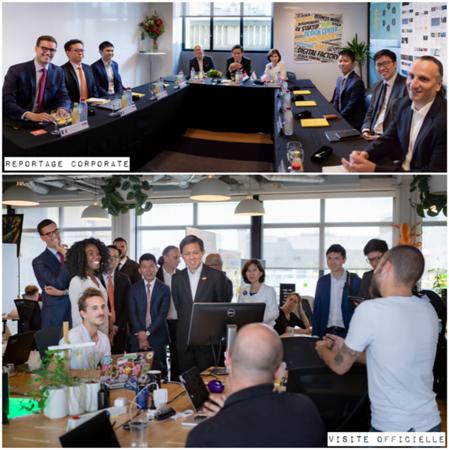 Juillet 2018 - Visite officielle d'une délagation de Singapour