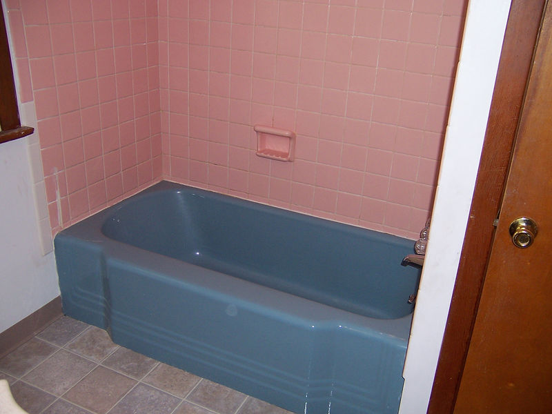 BEFORE- I had a few areas to repair on this unit prior to refinishing.