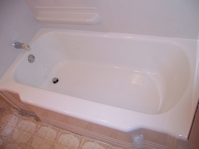 AFTER-    The tub went from worn to clean and smooth; saving the owner from the high cost of replacing the unit and it done in one day.
