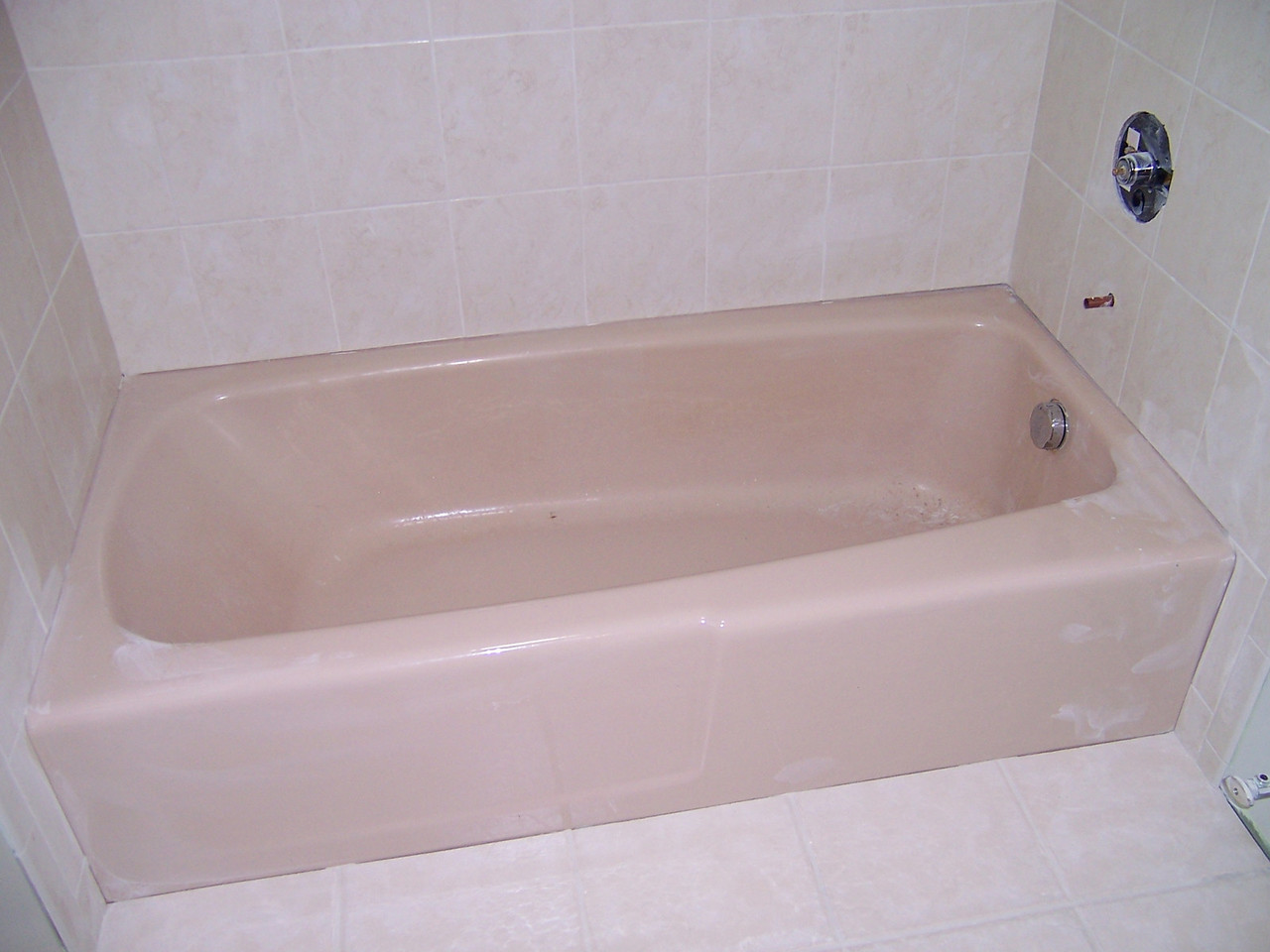 Have a tub that doesn't match the rest of your bathroom?
