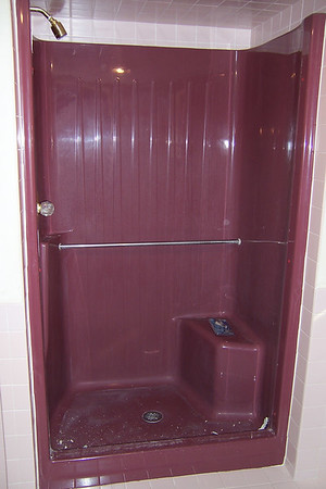 Refinished Seated Fiberglass Shower  Unit plus Tile