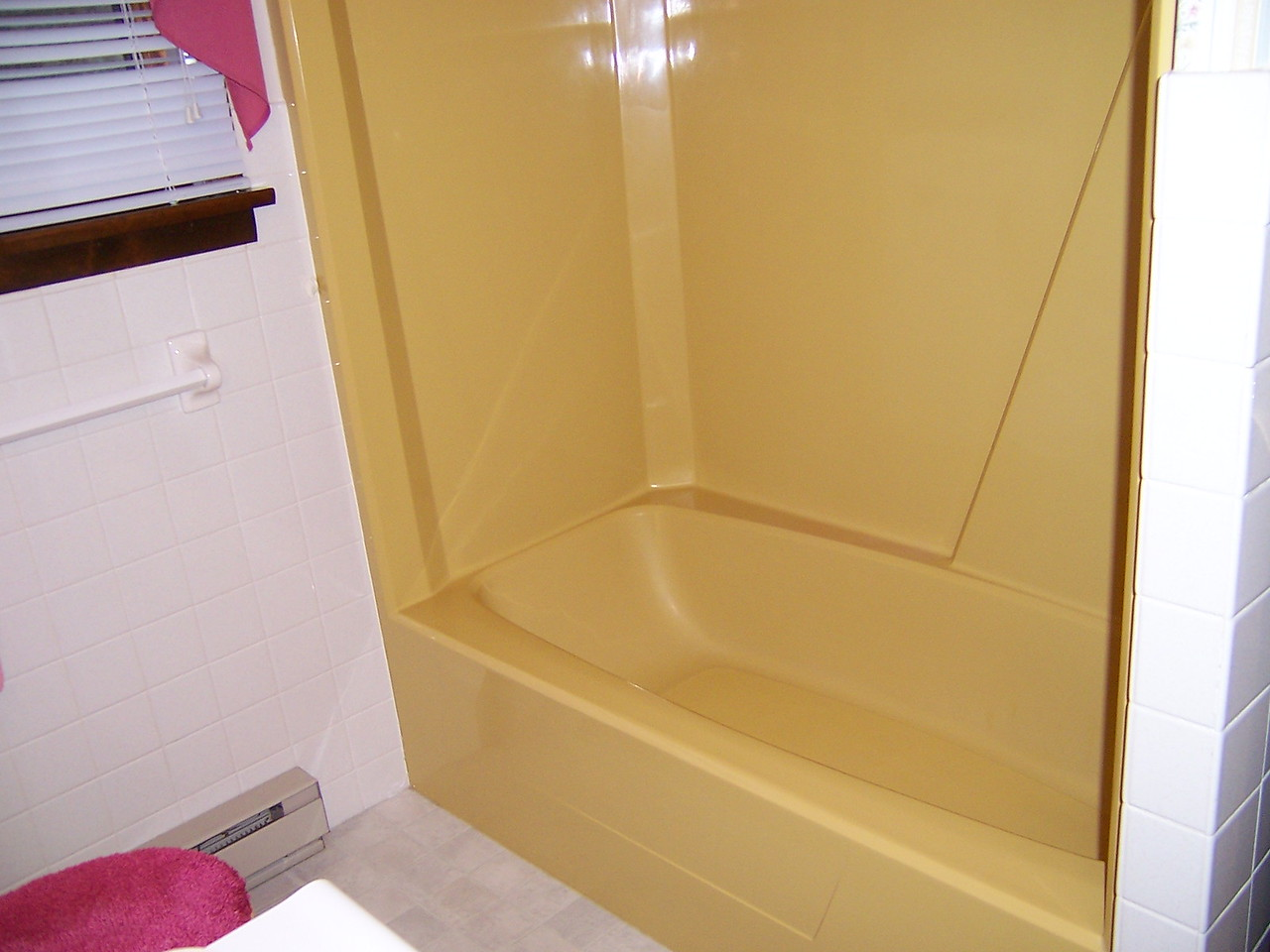 BEFORE refinishing:   There are different shades of  Harvest Gold, but it's still gold.