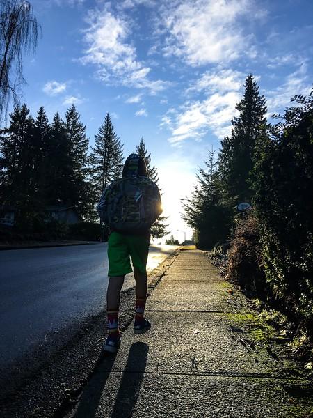 walking w light