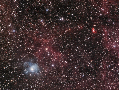 Vdb-133  &  Sh2-106  (The Hour Glass Nebula)