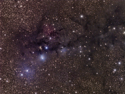 Ser Nebula (Golden Nebula)  &  GN18.27.9 (Blue Nebula)