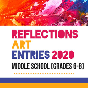 Reflections middle school gallery cover