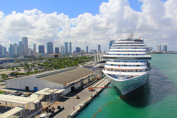 Downtown Miami Views From The Carnival Horizon