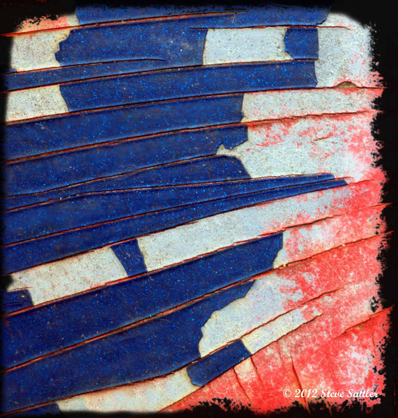 Auto Junk Yard - Red White and Blue