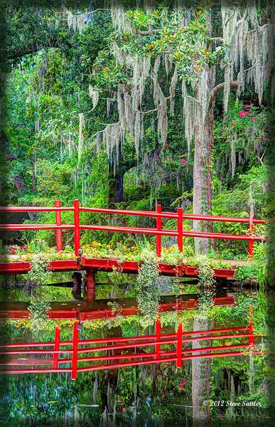 Footbridge at Magnolia Gardens - Charleston