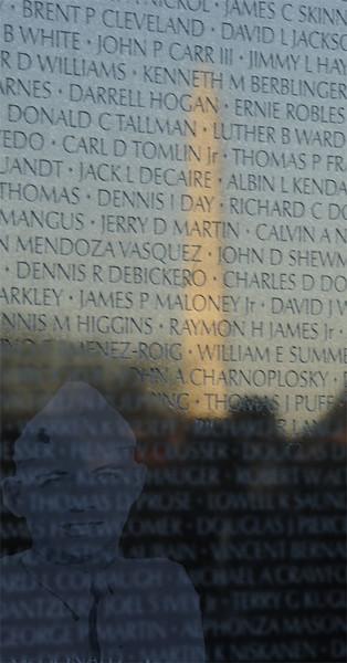 Vietnam Wall Reflection