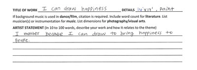 I Can Draw Happiness Artist Statement