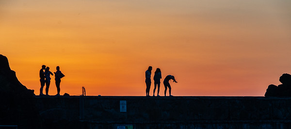 Sunset on the Seawall #3 , Portstewart, Co. Londonderry, NI