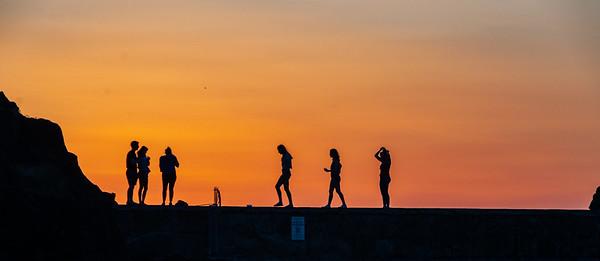 Sunset on the Seawall #! , Portstewart, Co. Londonderry, NI