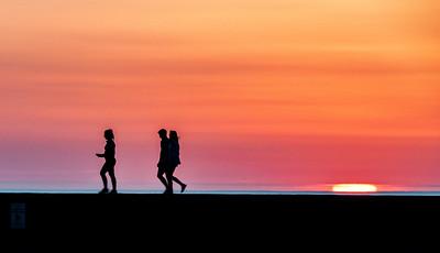 Sunset on the Seawall #2 , Portstewart, Co. Londonderry, NI