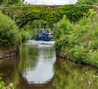 Barge On Canal At Drumhauver Bridge, Co. Leitrim