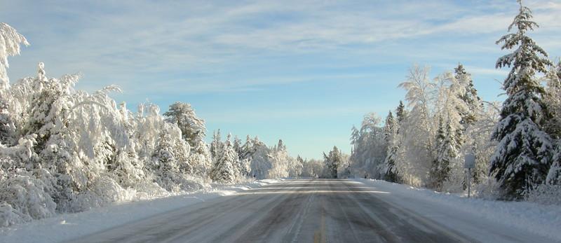 Yooper Winter Highway Panoramic