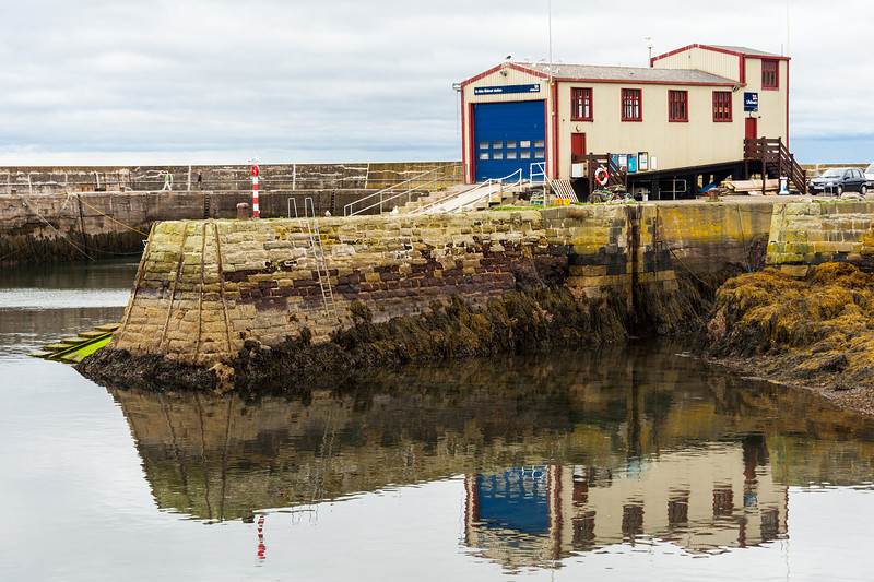 St. Abbs Harbour  and the RNLI lifeboat station.
