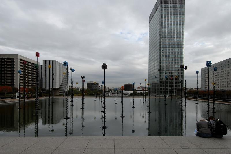 La Défense, looking towards the city centre.<br /> D200 with Nikon 12-24, October.