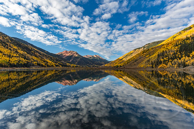 Crystal Lake Fall Foliage Reflection