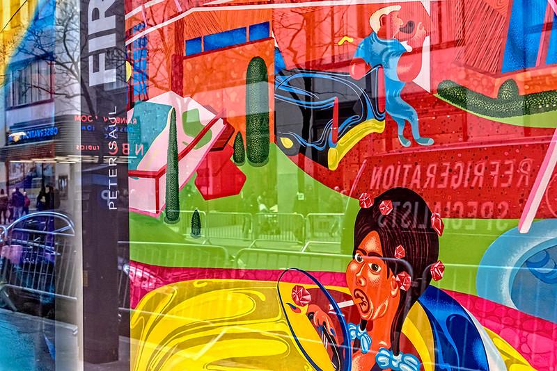 Yellow Car, Black Street Car, Peter Saul