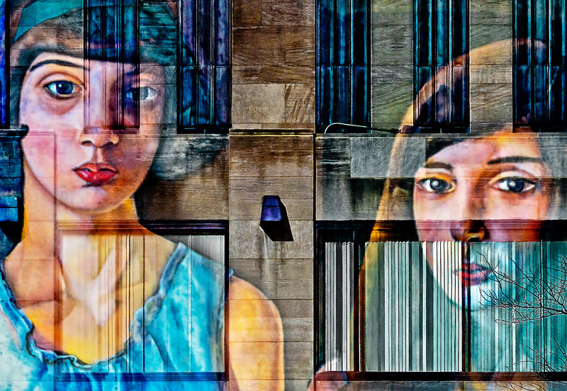 Two Women, Six Windows
